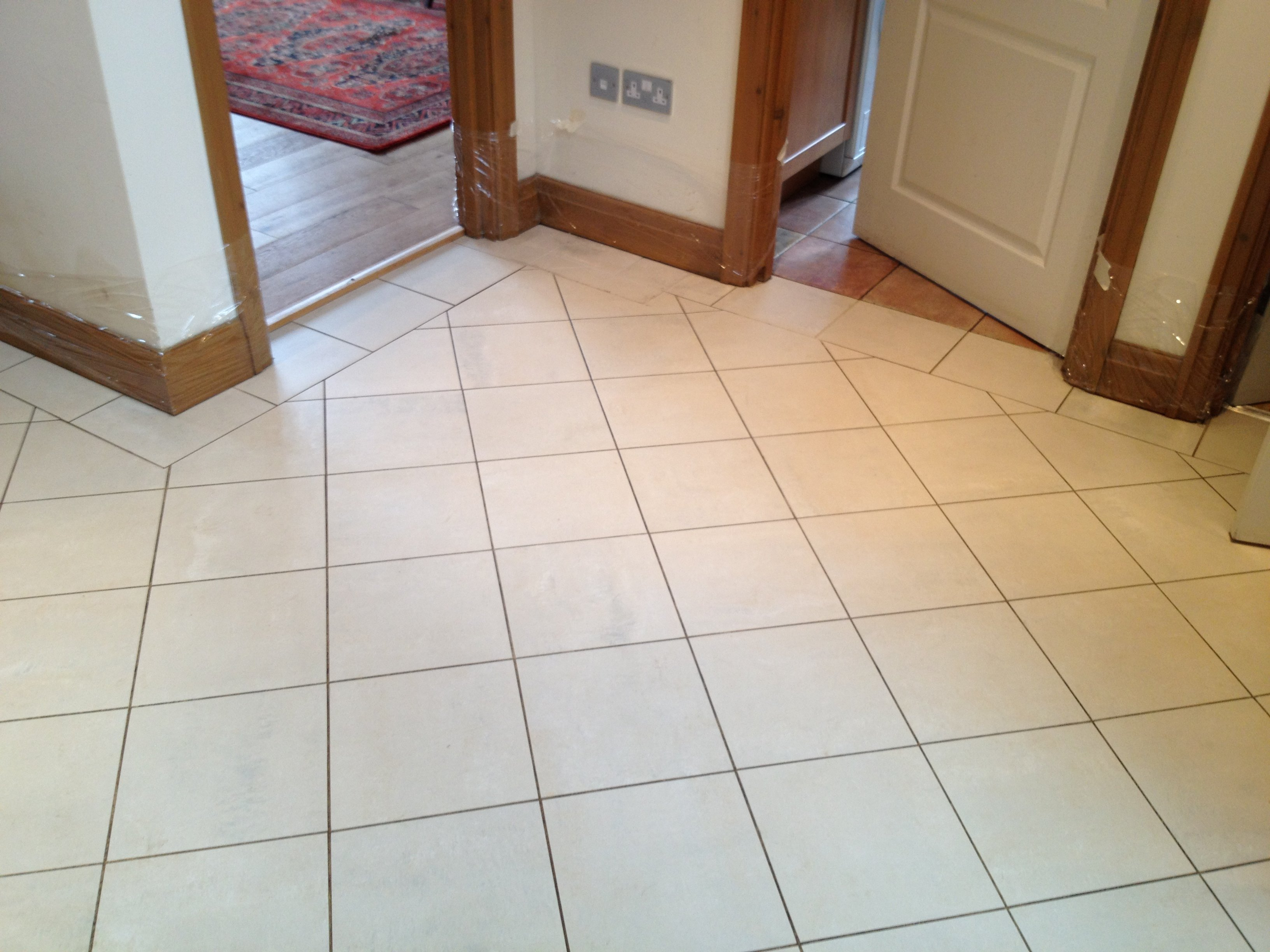 Before Porcelain Tile Cleaning Services Berkshire from AbFabStoneFloorCleaning.co.uk