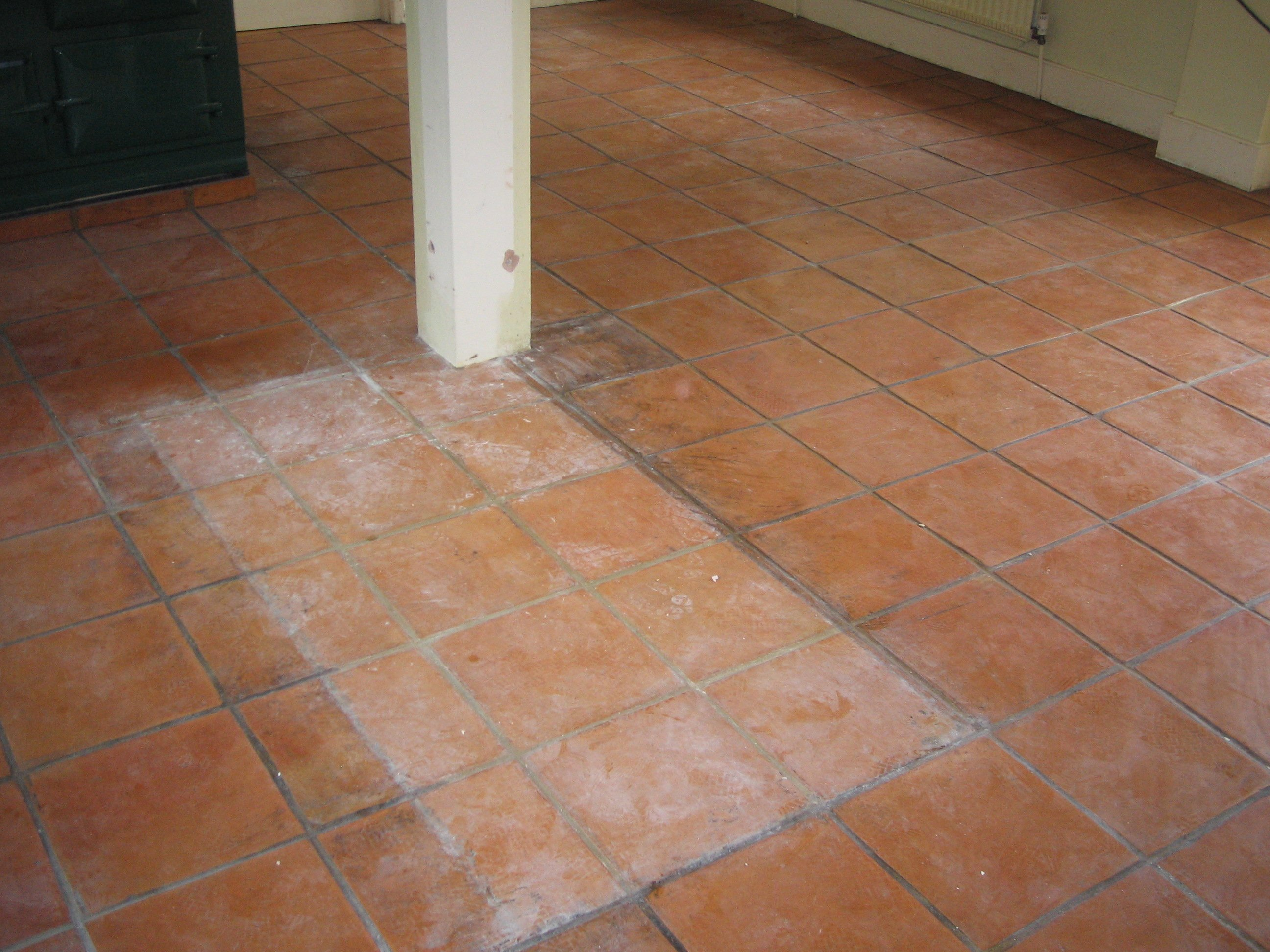 Before Quarry Tiles Cleaning Services Berkshire from AbFabStoneFloorCleaning.co.uk